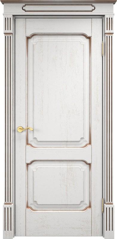 двери массив дуба белые