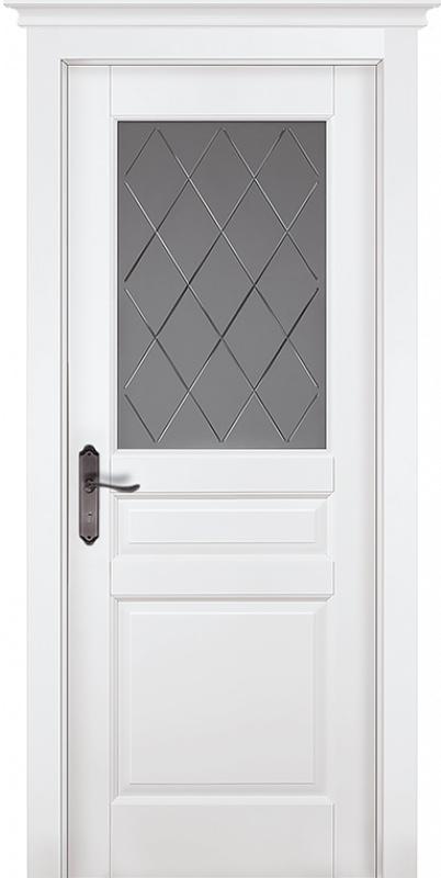 двери ока Валенсия белая эмаль